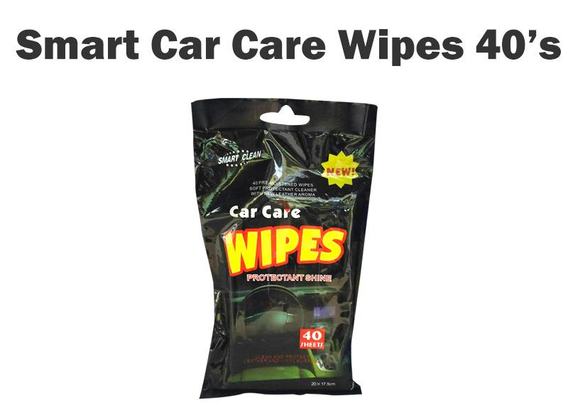 CAR CARE WIPES PROTECT & SHINE WIPES - 40 SHEETS