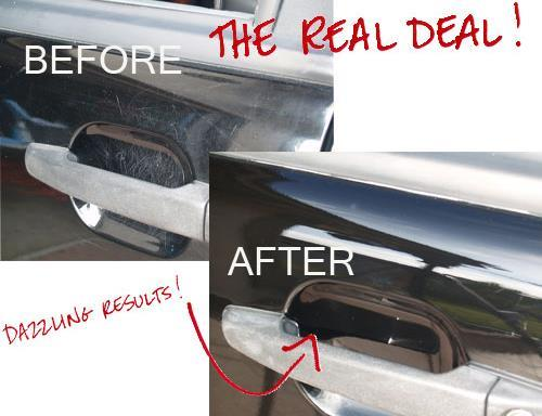 Car Door Handle Scratch Protector Clear Film (4pcs)