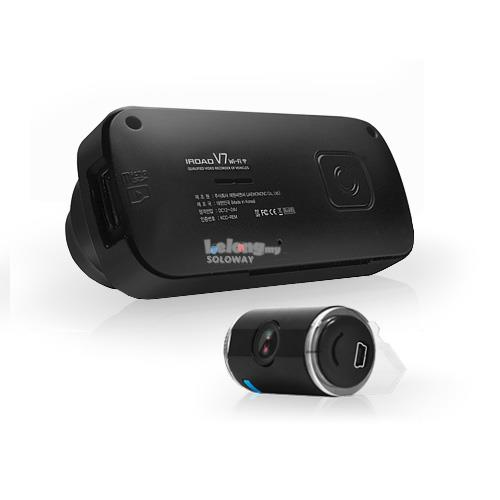 CAR DVR IROAD V7 HD 720P FRONT & REAR WIFI CAR RECORDER MADE IN KOREA