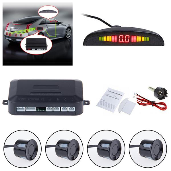 Car LED Display 4 Eyes Parking Reverse Sensor System