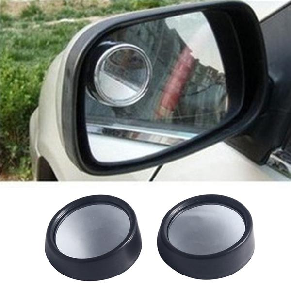 Car Rear View Mirror 2 Side Wide Angle Round Convex Blind Spot Mirror
