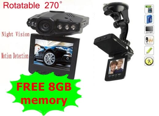 In Car Recorder DVR 2.5' Color TFT LCD LED Nightvision (FREE 8GB)