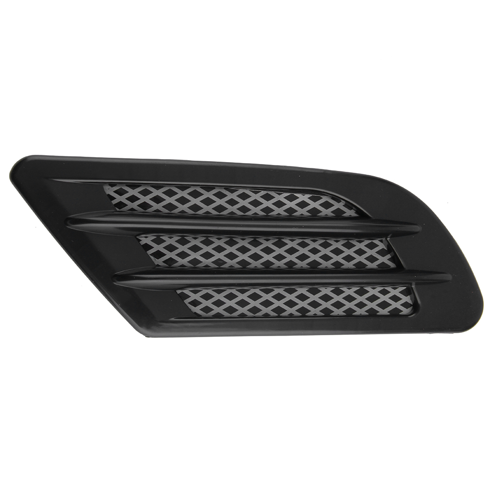 Car Side Air Flow Vent Hole Cover Fender Intake Grille Decoration Stic