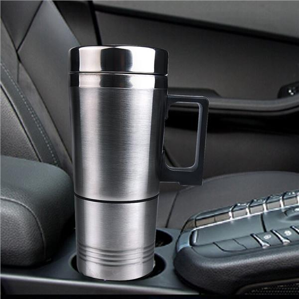 Car Stainless Steel Mug Car Coffee Cup With Charger