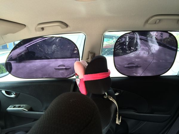 Car Static Electric 97% UV Proof Sun Shade 4 Pcs Made in Taiwan