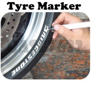Car Tyre Marker Paint Vehicle Touch up Wheel Tire Tyre White Pen