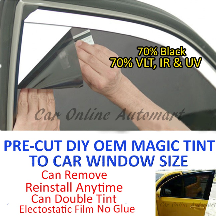 Car Window Magic Tint OEM Tinted Glass Solar Film (4 Windows) - 70% Bl