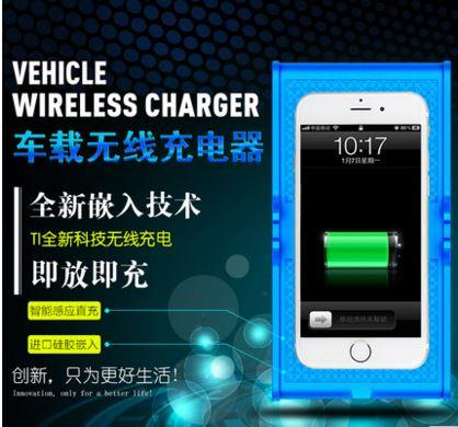 Car Wireless Charger Pad (BLACK)with stand For Samsung, Iphone and etc