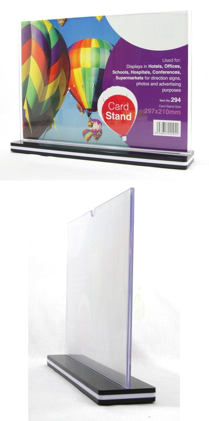 Card Stand A4 Landscape Acrylic Information Holder