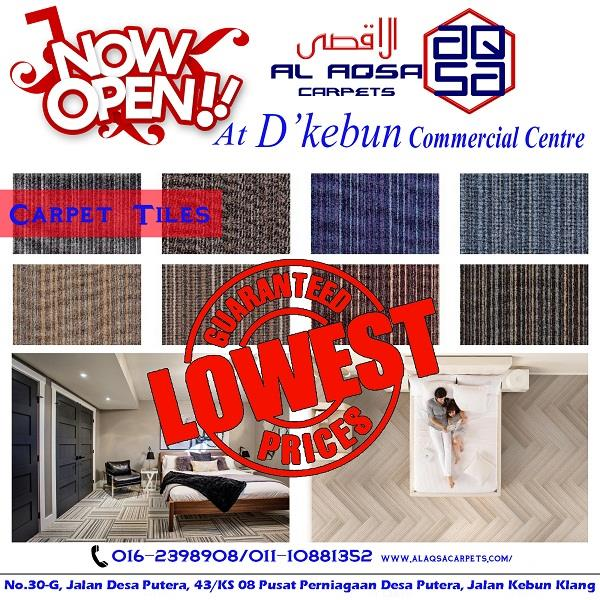 CARPET  TILES  SUPPLIER AND INSTALLATION MALAYSIA / CARPET TILES PRICE