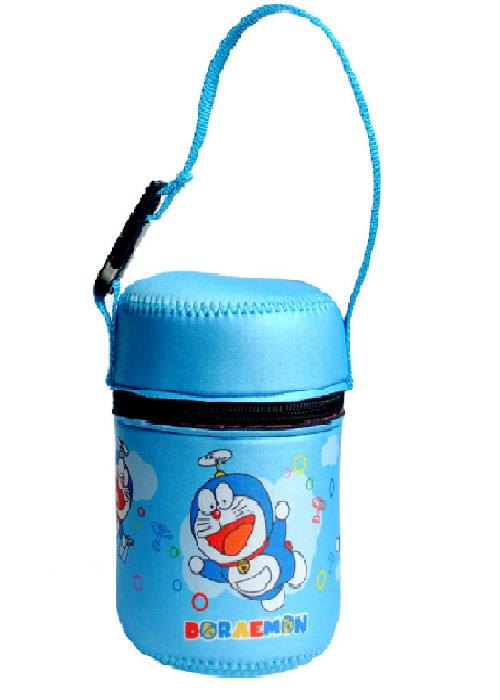 Carry Pouch For Thermos or Zojirushi Foodjar 470ml-500ml - Doraemon
