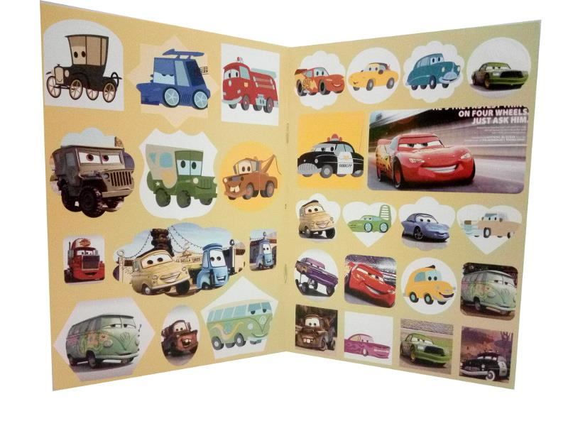 Cars Coloring Book with Stickers