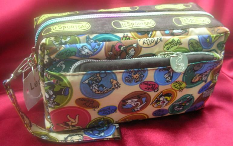 Cartoon Design Cosmetic Pouch/Wristlet ~New