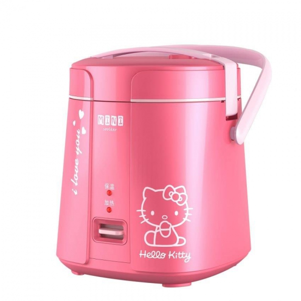Cartoon Electric Cooker ~ L super cute happy time hello kitty mini rice cooker