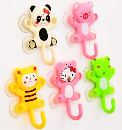 Cartoon series four suction cup mini wall hooks / hanger SP-005