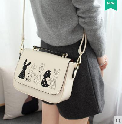 Cartoon small square bag shoulder bag Messenger bag