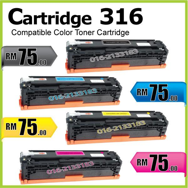 Cartridge 316/CRG@Compatible Canon LBP5050 LBP5050n MF8030cn B Color