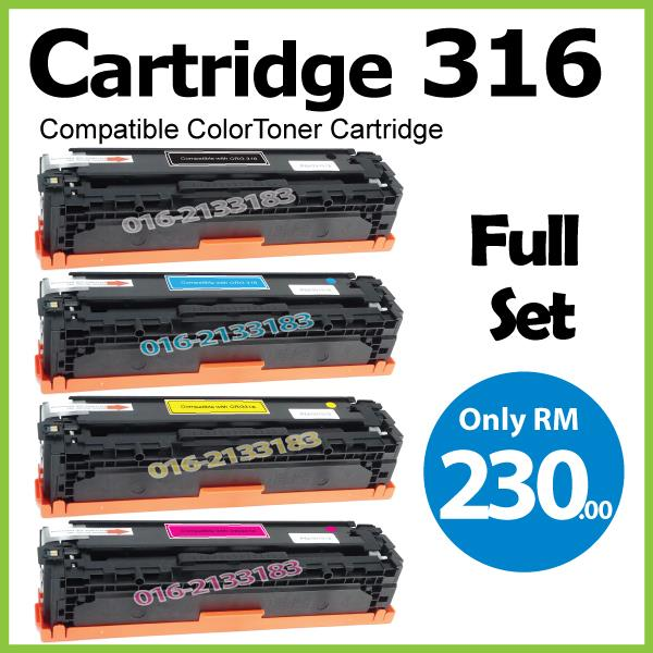 Cartridge 316/CRG316/CRG@Compatible Canon LBP5050 LBP5050n Color Set