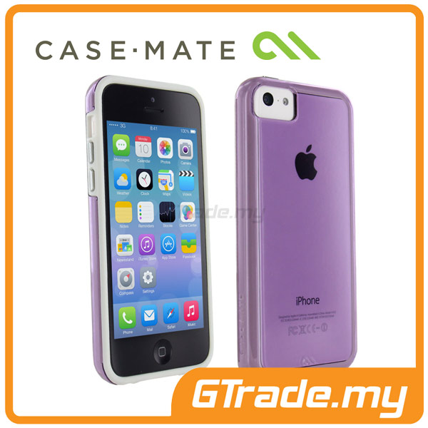 CASE-MATE Naked Tough Case |Apple iPhone 5C Purple White
