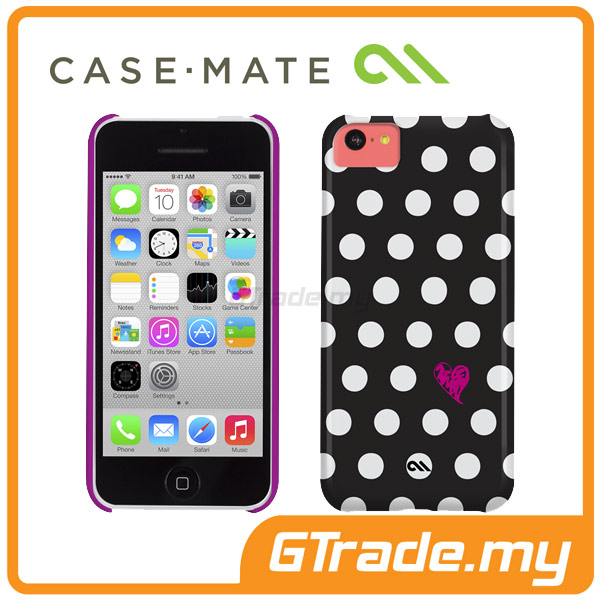CASE-MATE Studio Print Case | Apple iPhone 5C Polka Love