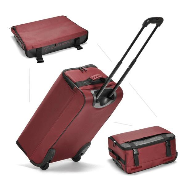 CaseValker Foldable Travel Luggage Trolley With 2 Wheels (Maroon)