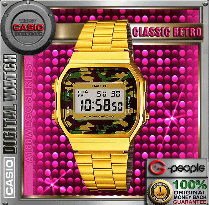 CASIO A168WEGC-3 RETRO SPECIAL COLOUR WATCH ☑ORIGINAL☑