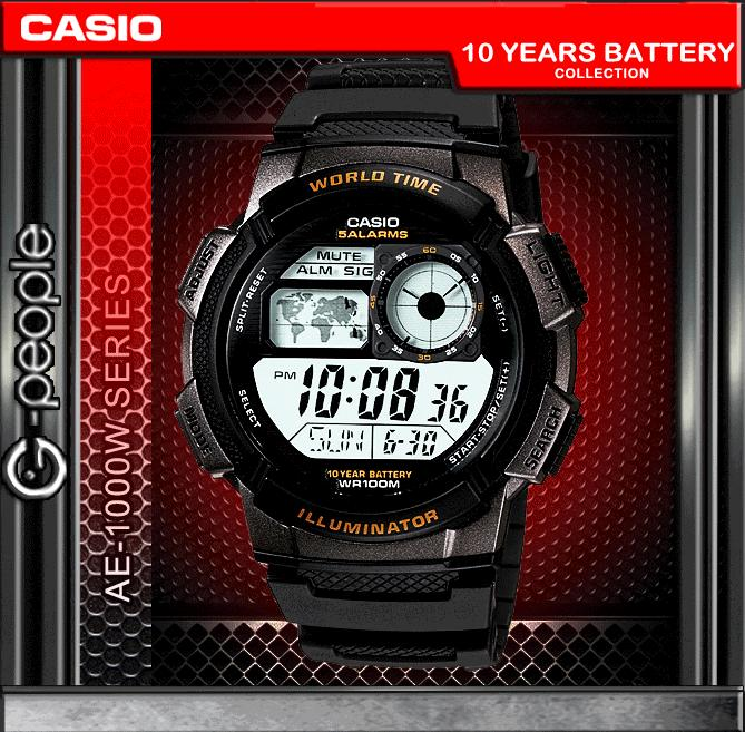 how to change the time on my casio watch