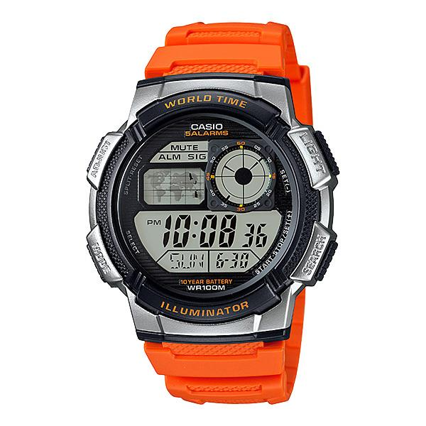 Casio AE-1000W-4B LED Quartz Alarm 5 Resin Band Watch with warranty