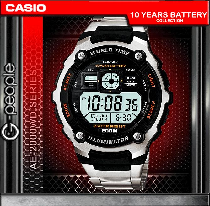 CASIO AE-2000WD-1A 200M WR WATCH ☑ORIGINAL☑