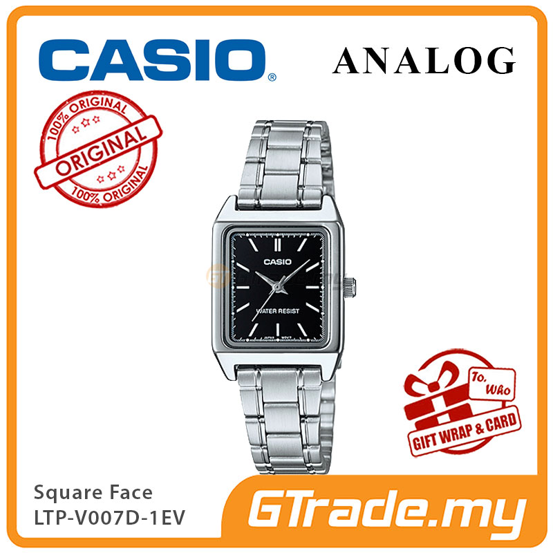 CASIO ANALOG LTP-V007D-1EV Ladies Watch | Square Face Steel Band