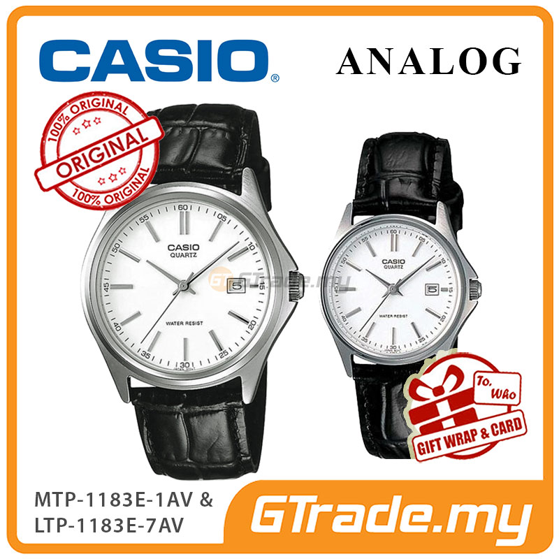 CASIO ANALOG MTP-1183E-7AV & LTP-1183E-7AV Analog Couple Watch