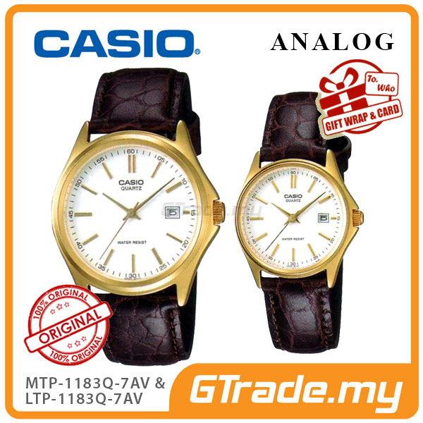 CASIO ANALOG MTP-1183Q-7AV & LTP-1183Q-7AV Analog Couple Watch