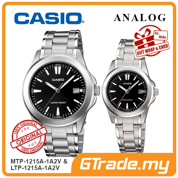 CASIO ANALOG MTP-1215A-1A2V & LTP-1215A-1A2V Analog Couple Watch