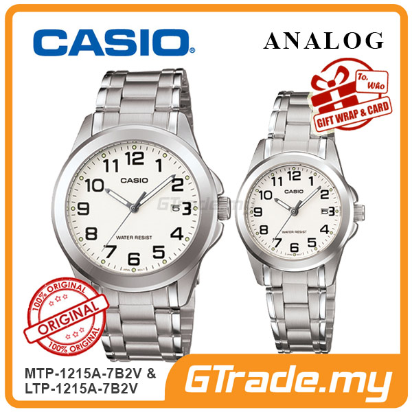 CASIO ANALOG MTP-1215A-7B2V & LTP-1215A-7B2V Analog Couple Watch