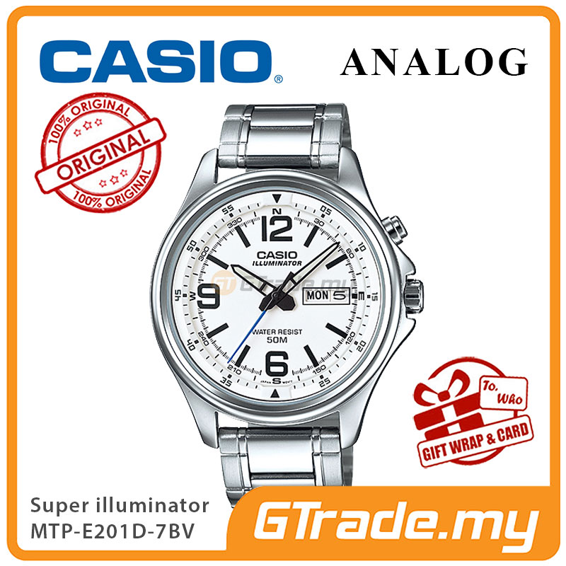 CASIO ANALOG MTP-E201D-7BV Men Watch | Super Illuminator Light