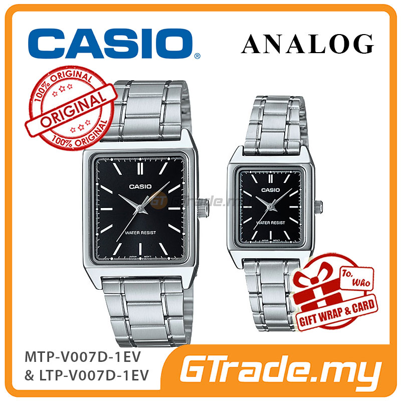 CASIO ANALOG MTP-V007D-1EV & LTP-V007D-1EV Analog Couple Watch