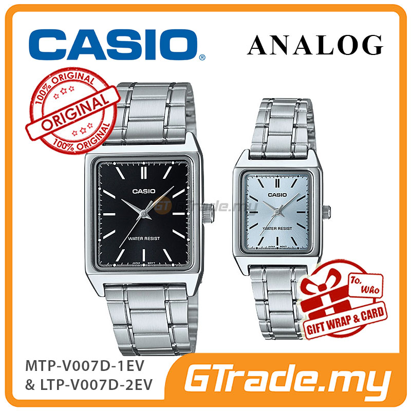 CASIO ANALOG MTP-V007D-1EV & LTP-V007D-2EV Analog Couple Watch