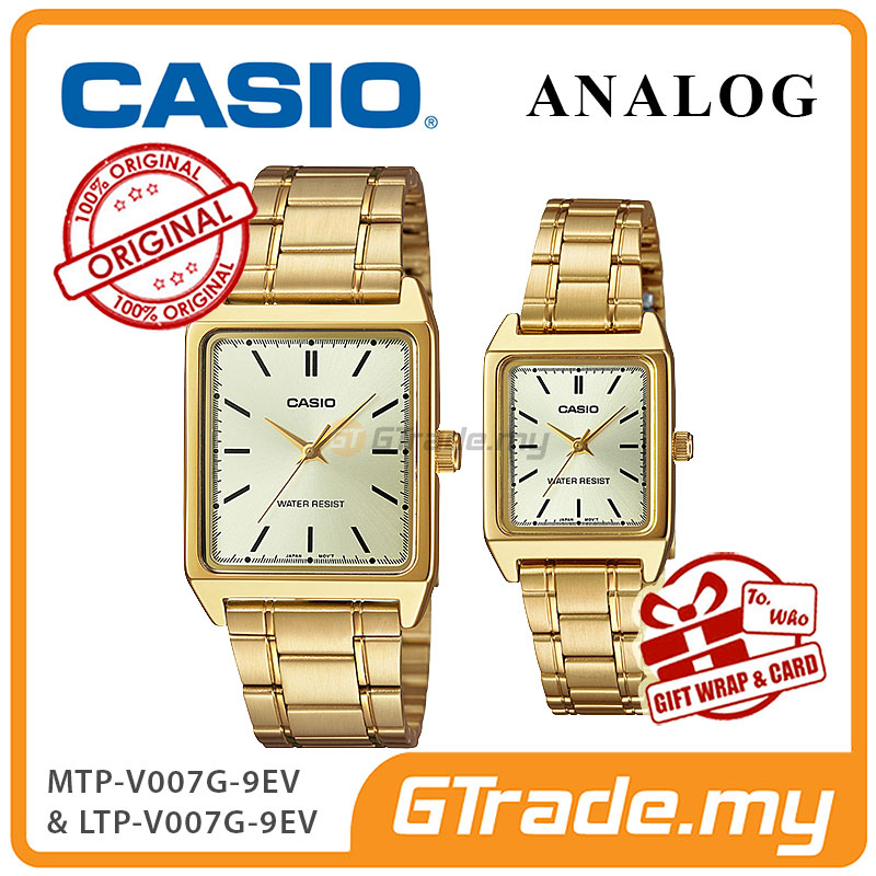CASIO ANALOG MTP-V007G-9EV & LTP-V007G-9EV Analog Couple Watch