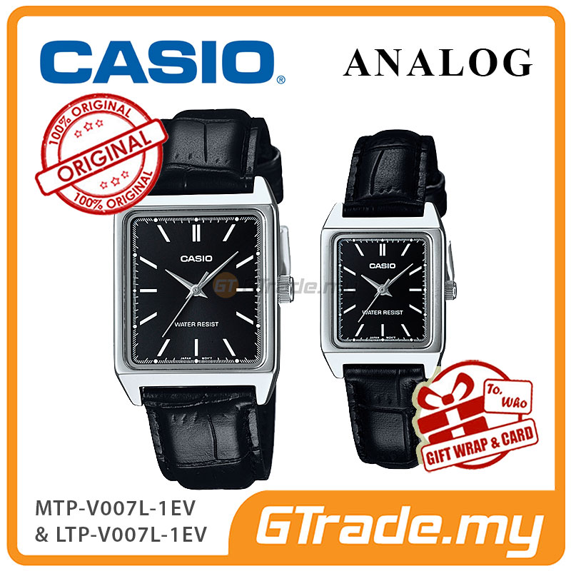 CASIO ANALOG MTP-V007L-1EV & LTP-V007L-1EV Analog Couple Watch