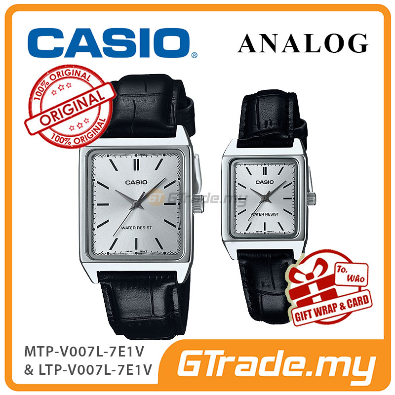 CASIO ANALOG MTP-V007L-7E1V & LTP-V007L-7E1V Analog Couple Watch