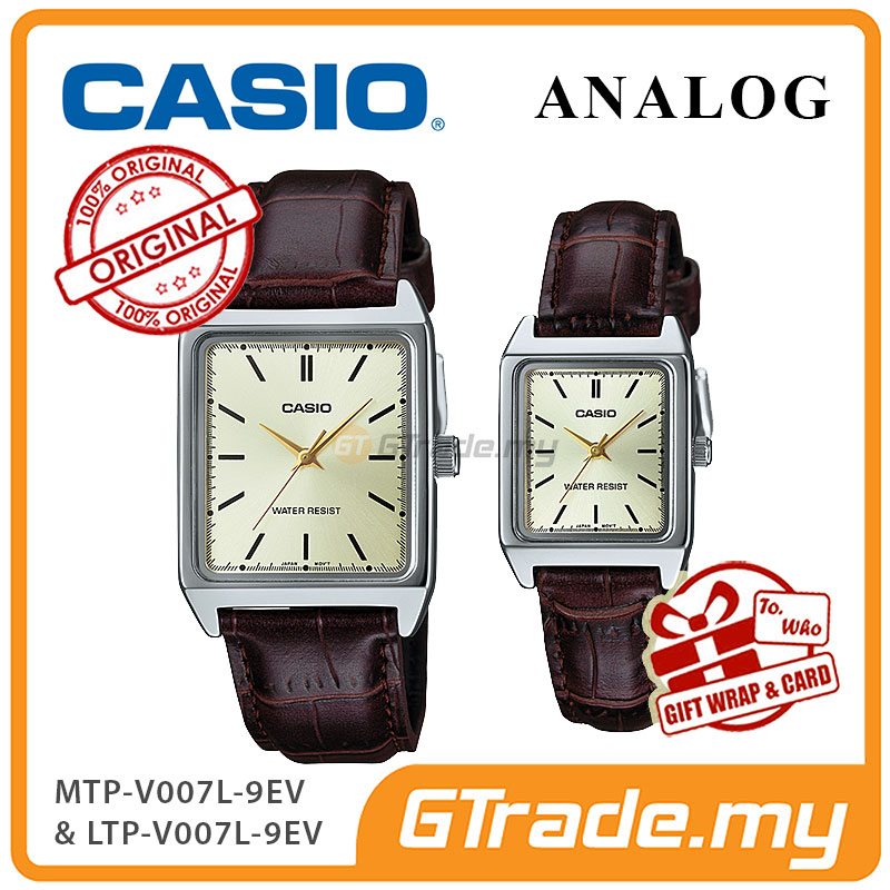 CASIO ANALOG MTP-V007L-9EV & LTP-V007L-9EV Analog Couple Watch