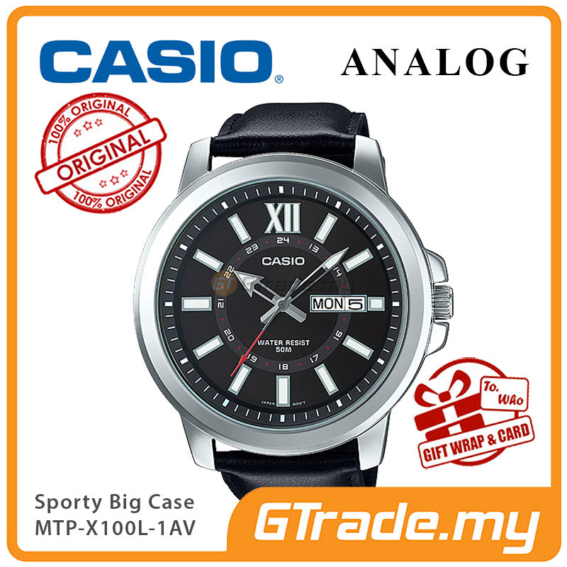 CASIO ANALOG MTP-X100L-1AV Mens Watch | Day Date Huge Sporty Design
