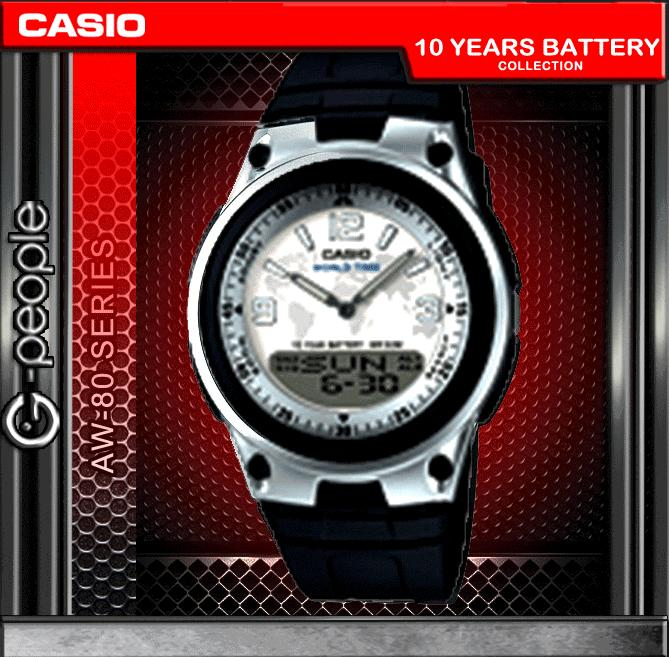 CASIO AW-80-7A2V ANALOG DIGITAL WATCH ☑ORIGINAL☑
