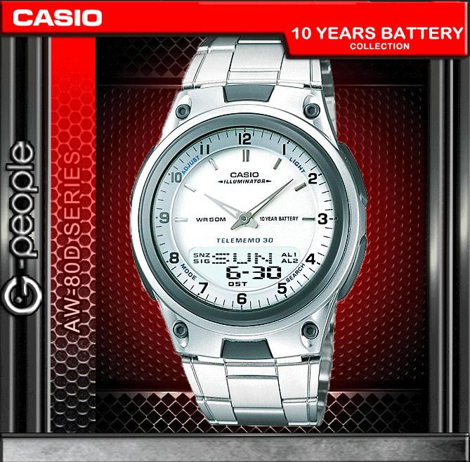 CASIO AW-80D-7AV ANALOG DIGITAL WATCH ☑ORIGINAL☑