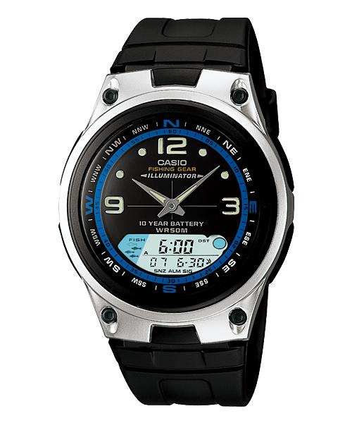 CASIO AW-82-1AV FISHING GEAR ANA-DIGI With Fishing Tide & Moon Age WAT