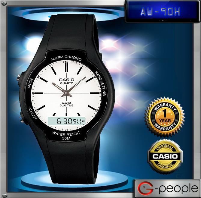 CASIO AW-90H-7E ANALOG DIGITAL WATCH☑ORIGINAL☑