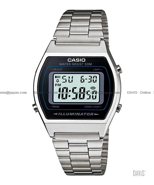 CASIO B640WD-1AV STANDARD Digital popular retro SS bracelet silver