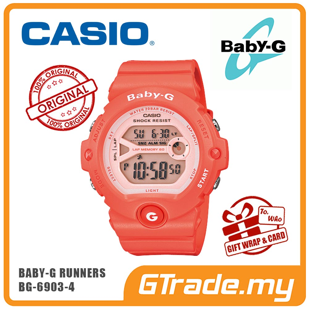 CASIO BABY-G BG-6903-4 Digital Watch | Runner Memory Lap 60