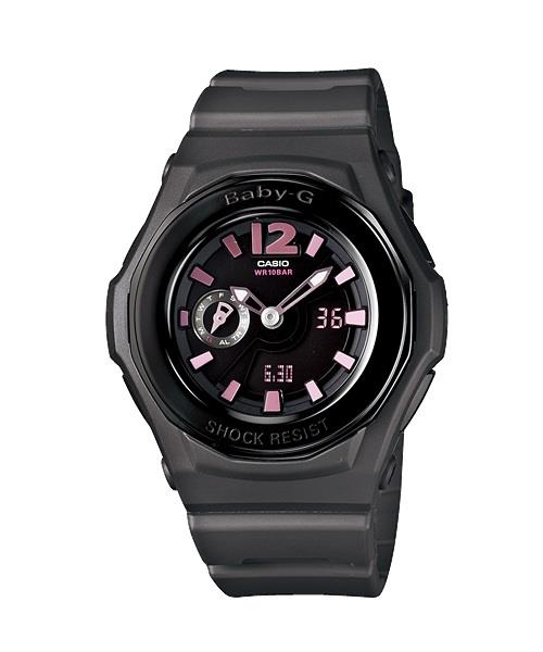 CASIO BABY-G BGA-143-8B Pretty Metallic & Resin Strap Gunmetal