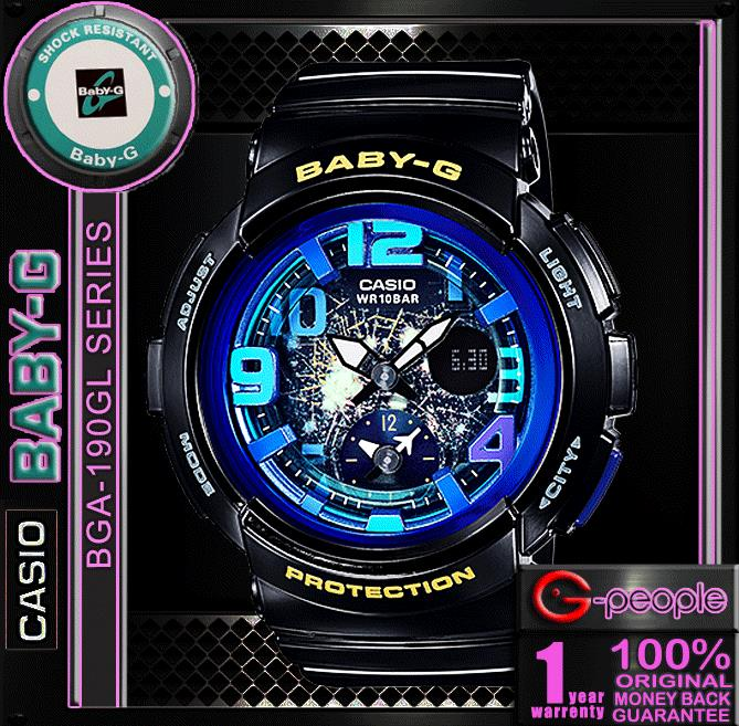 CASIO BABY-G  BGA-190GL-1B WATCH ☑ORIGINAL☑